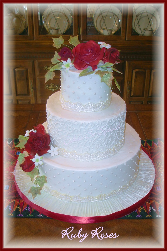 40th Wedding Anniversary Cake Designs